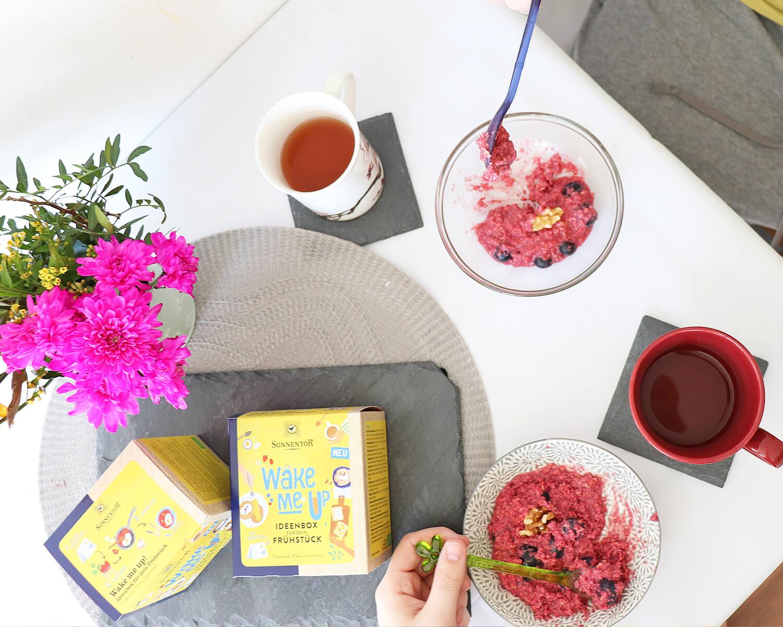 WAKE ME UP Ideenbox für dein Frühstück von SONNENTOR