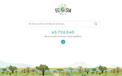 Mit der Suchmaschine Ecosia ganz einfach Bäume pflanzen!