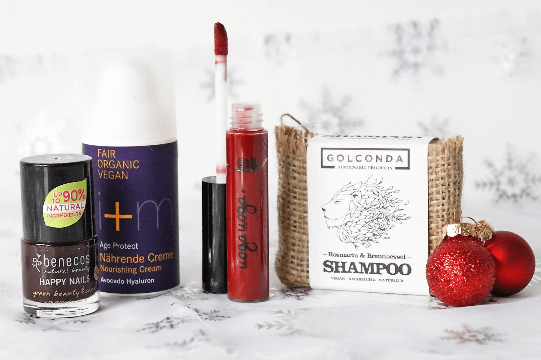 Weihnachtliche Naturkosmetik aus der Fairybox Dezember
