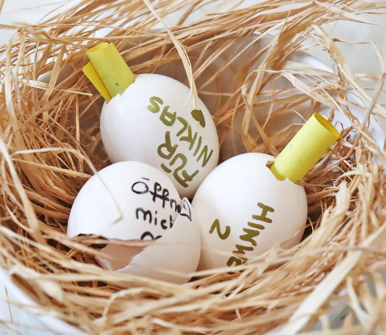 DIY Glückseier für Ostern
