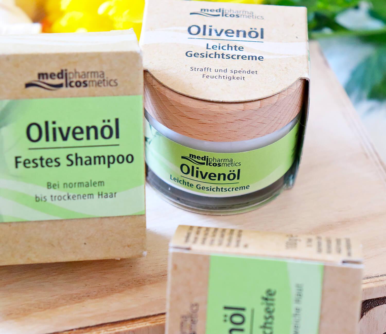 Nachhaltige Olivenöl-Pflegeserie von medipharma cosmetics