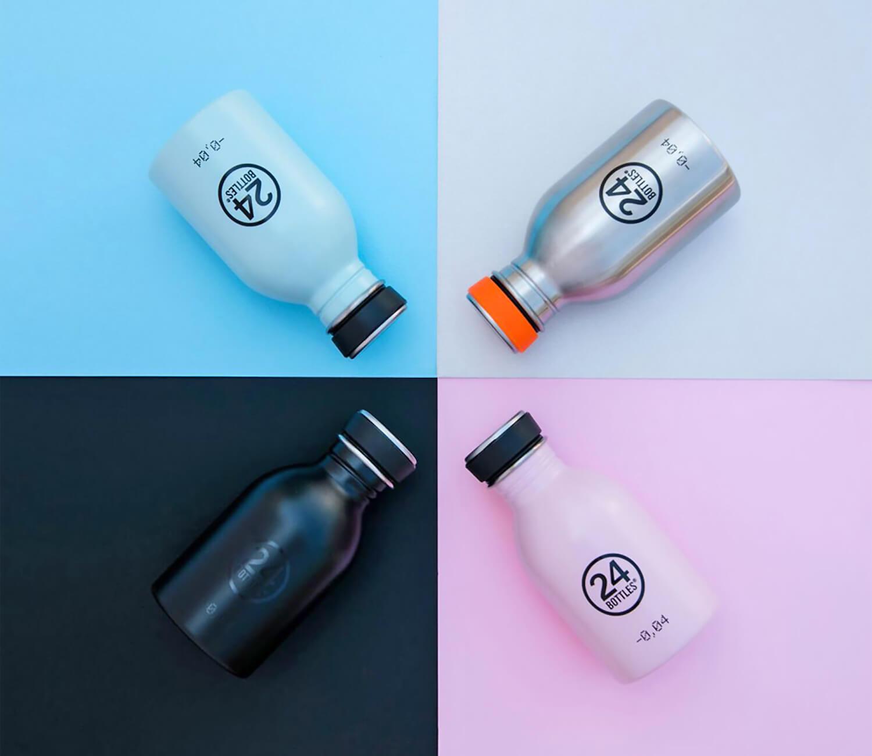 Nachhaltige Trinkflaschen von 24 Bottles